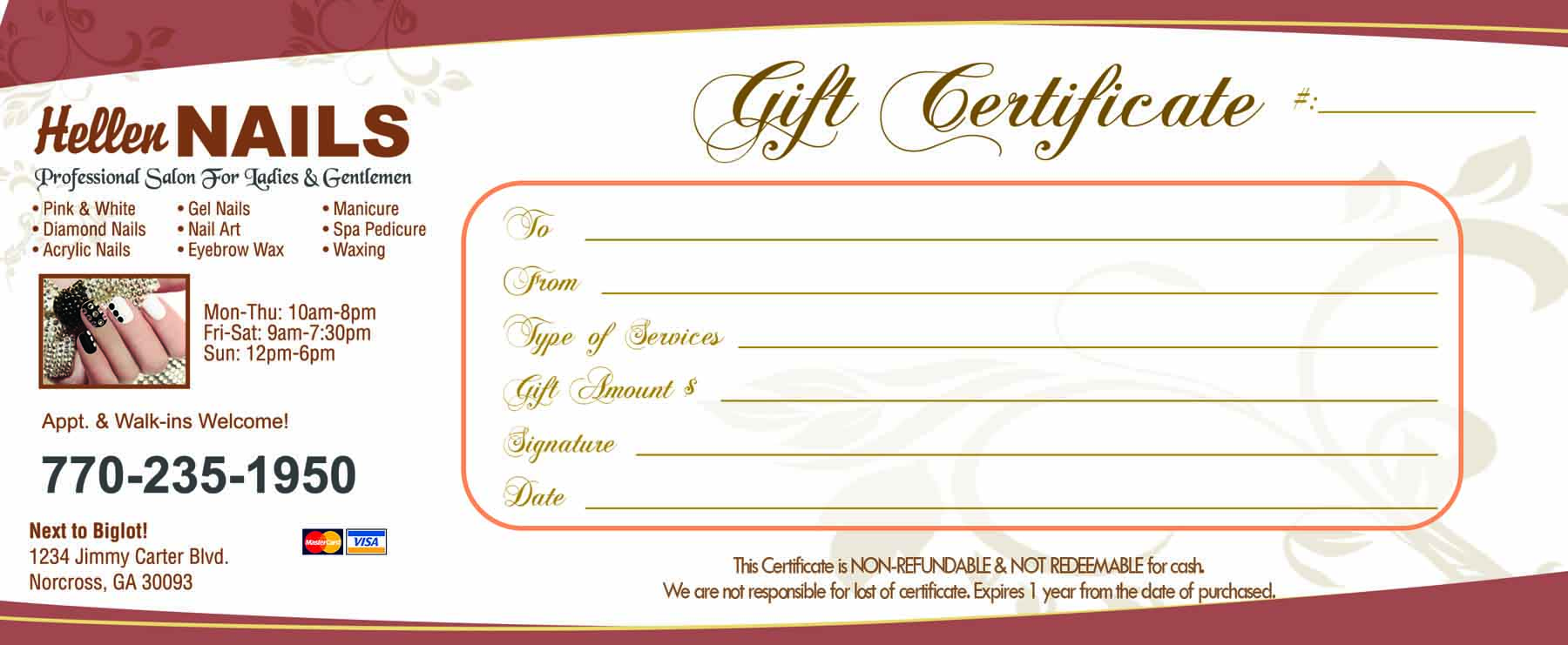 Gift Certificates Templates | VN PRINTING
